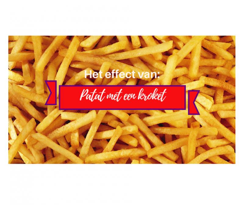 Het effect van patat met een kroket