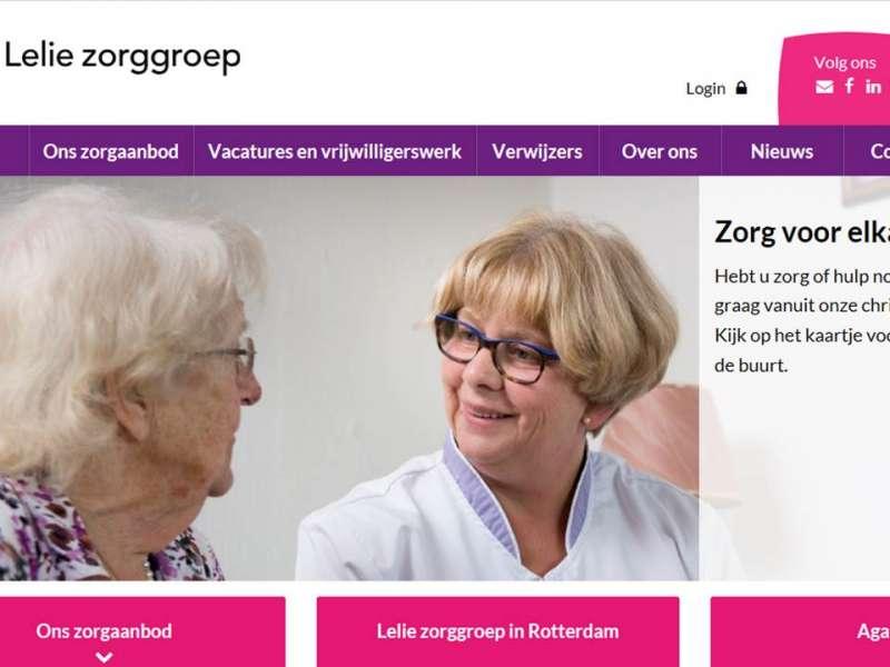 Nieuwe websites voor Lelie zorggroep