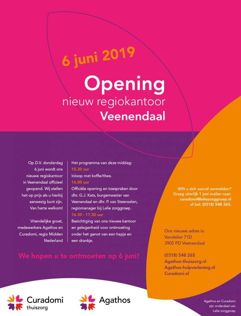 Feestelijke opening nieuw regiokantoor in Veenendaal op 6 juni
